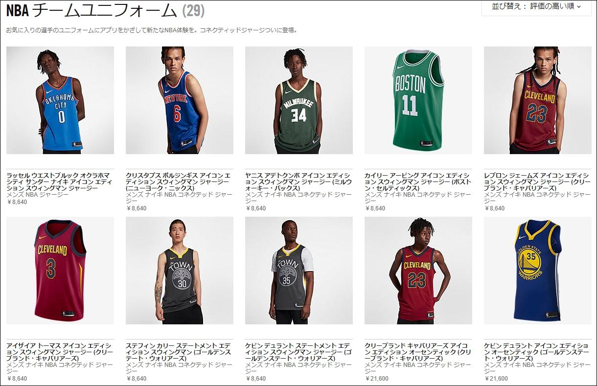 NBAコネクテッドユニフォーム