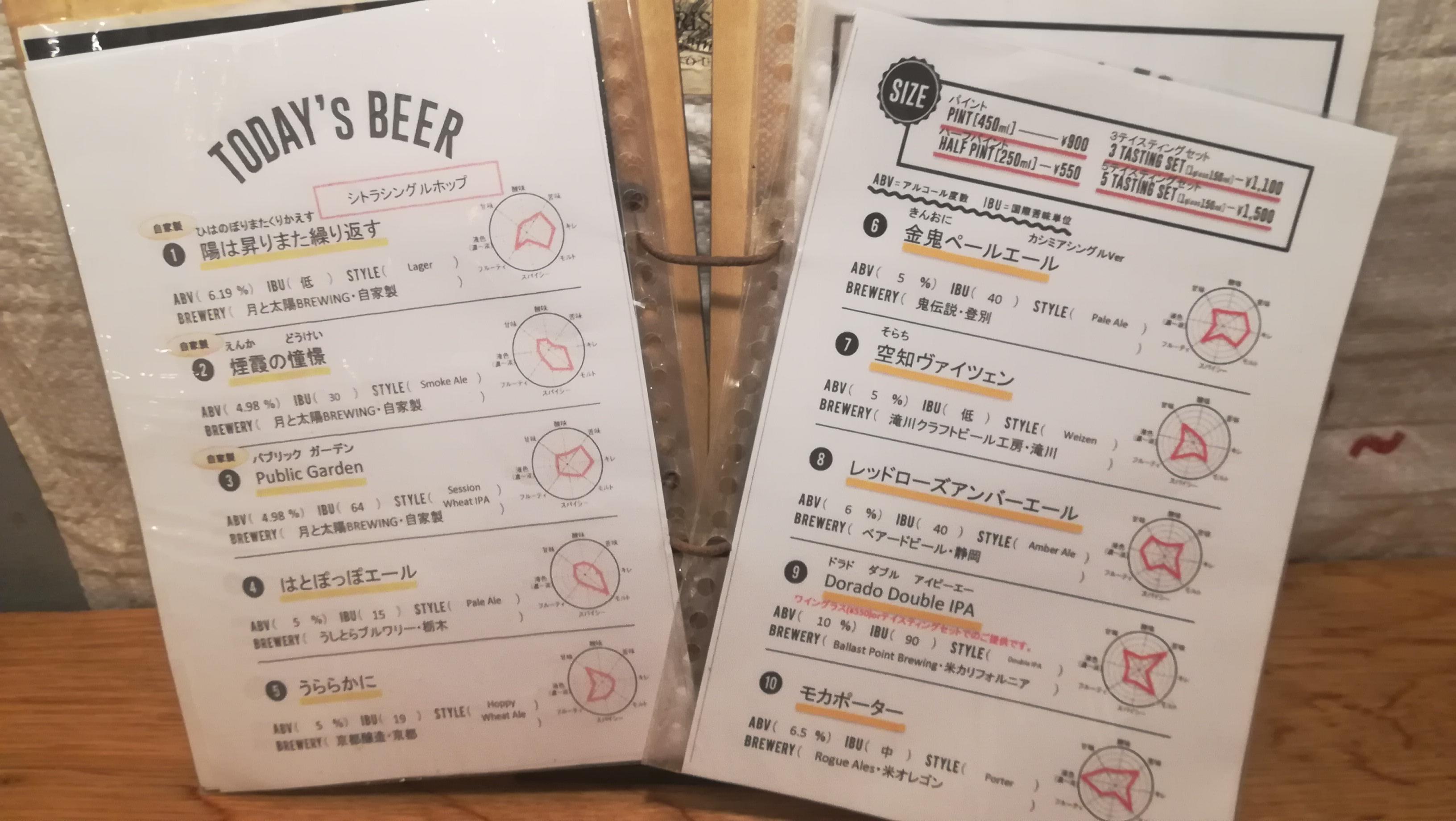 【美味】札幌のクラフトビール「月と太陽ブルーイング」に行ったよ!